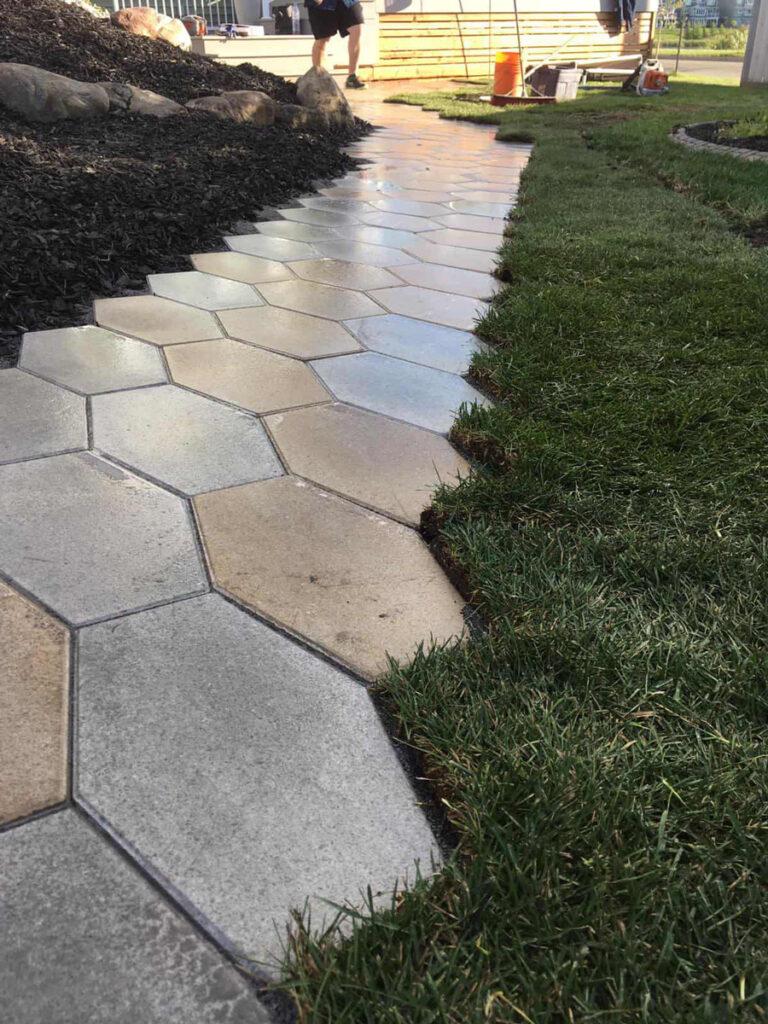 hexagon-stone-pathway